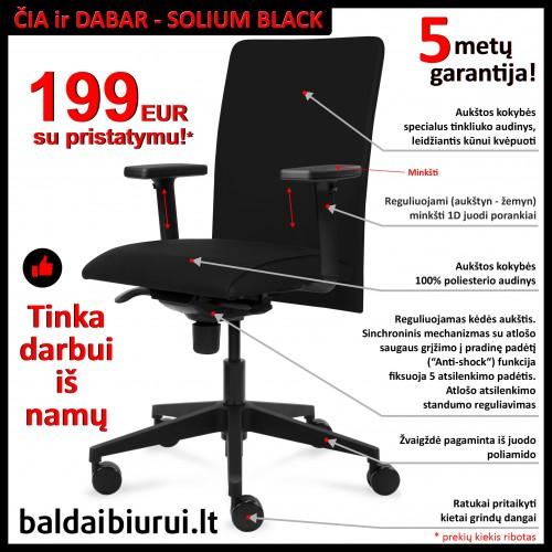 Biuro kėdė SOLIUM Black